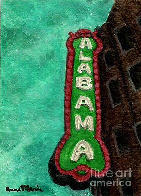 Alabama Theatre Art Print by AnnaMarie Armstrong