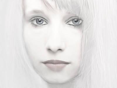Alabaster-face Art Print