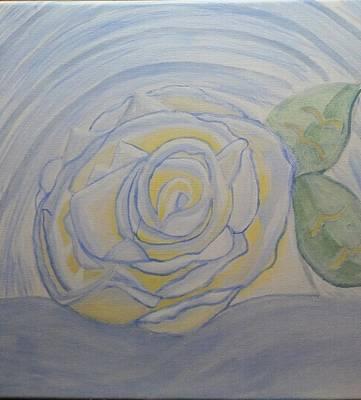 Alabaster Painting - Alabaster Rose  by Tina Mostov