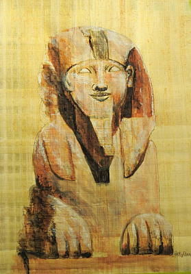 Painting - Alabaster Sphinx by Betty-Anne McDonald