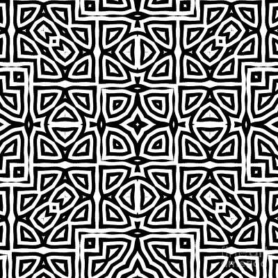 Ethnic Painting - Alhambra Black by Mindy Sommers
