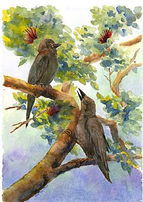 'alala Art Print by Wicki Van De Veer