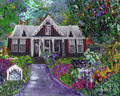 Painting - Alameda 1854 Gothic Revival - The Webster House by Linda Weinstock