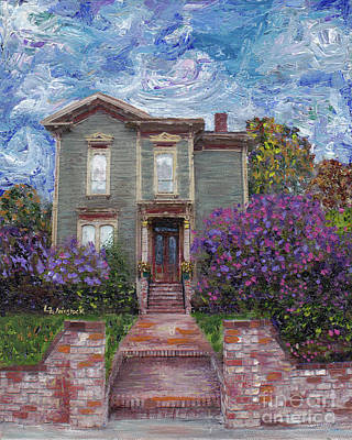 Art Print featuring the painting Alameda 1888 - Italianate by Linda Weinstock