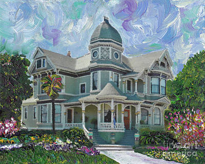 Painting - Alameda 1893  Queen Anne  by Linda Weinstock
