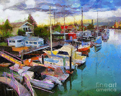 Painting - Alameda Life On The Estuary 2 by Linda Weinstock