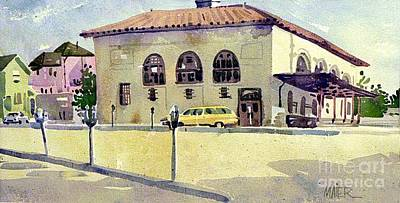 Painting - Alameda Post Office by Donald Maier