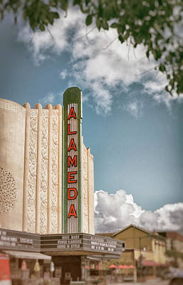 Historic Architecture Photograph - Alameda Theater California by Mary Lee Dereske
