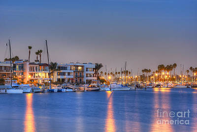 Photograph - Alamitos Bay Inlet by David Zanzinger