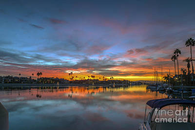 Photograph - Alamitos Bay Naples Sunset Belmont Shore by David Zanzinger