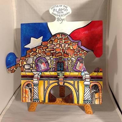 Painting - Alamo Anniversay by Patti Schermerhorn