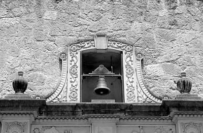 Photograph - Alamo Bell Tower Bw by Mary Bedy