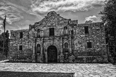 Photograph - Alamo Black And White by Robert Hebert