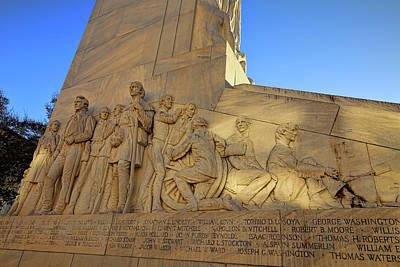 Photograph - Alamo Cenotaph Monument 4 by Judy Vincent