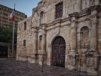 Katharine Hepburn - Alamo Entrance and Flag by Buck Buchanan