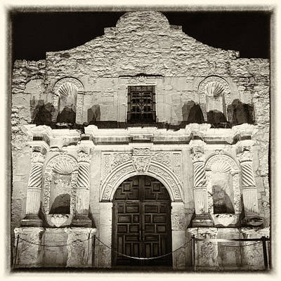 Spanish Mission Photograph - Alamo Entrance by Stephen Stookey