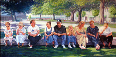 Painting - Alamo Pilgrims by Suzanne Berry