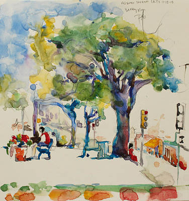 Painting - Alamo Plaza by Becky Kim