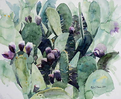 Painting - Alamo Prickly Pear by Jeffrey S Perrine