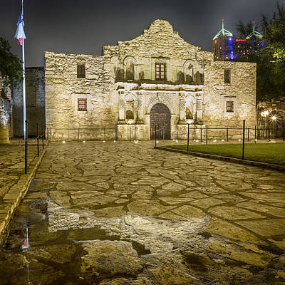 Spanish Mission Photograph - Alamo Reflection by Stephen Stookey