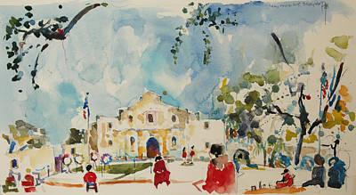 Painting - Alamo San Antonio by Becky Kim
