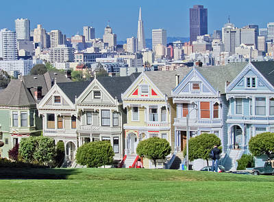 Print featuring the photograph Alamo Square by Matthew Bamberg