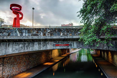 Photograph - Alamo Street Over The Riverwalk - San Antonio by Gregory Ballos