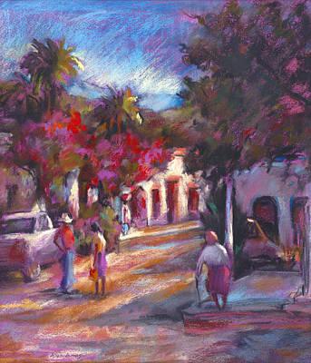 Sonora Painting - Alamos Street by Joan  Jones