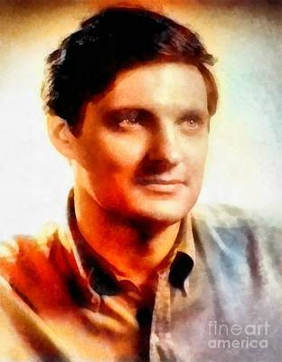 Glamor Painting - Alan Alda, Hollywood Actor by Frank Falcon