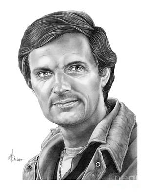 Famous People Drawing - Alan Alda by Murphy Elliott