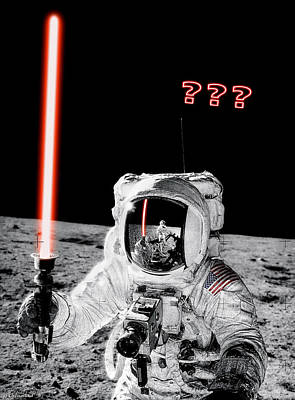 Photograph - Alan Bean Finds Lightsaber On The Moon by Weston Westmoreland