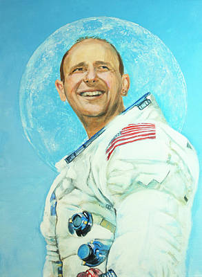 Painting - Alan Bean by Simon Kregar