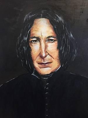 Alan Rckman. Portrait Original by Maria Mei