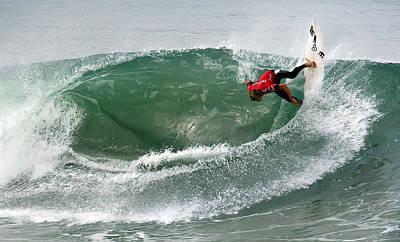 Photograph - Alan Riou Surfer by Waterdancer