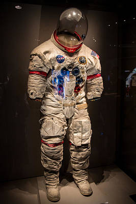 Photograph - Alan Shepard's Space Suit by Allan Morrison