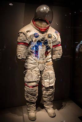 Photograph - Alan Shepard's Space Suit by Allan Morrison