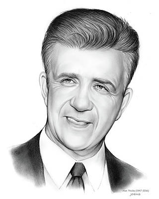 Game Drawing - Alan Thicke 1947-2016 by Greg Joens