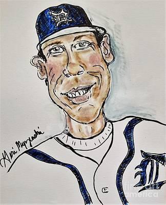 Baseball Players Mixed Media - Alan Trammel Detroit Tigers by Geraldine Myszenski