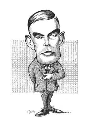 Alan Turing, British Mathematician Art Print by Gary Brown