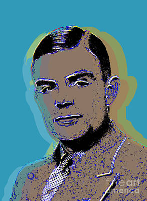 Digital Art - Alan Turing Pop Art by Jean luc Comperat