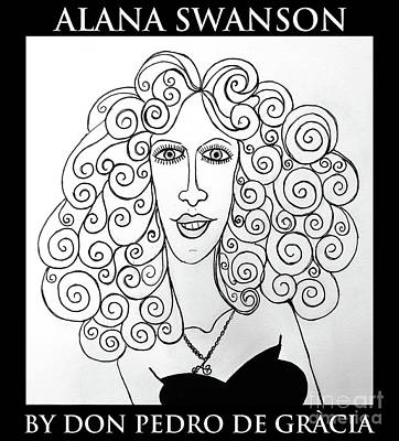 Drawing - Alana Swanson by Don Pedro De Gracia