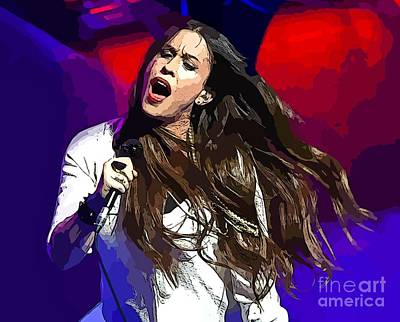 Recently Sold - Musicians Royalty Free Images - Alanis Rocks Royalty-Free Image by John Malone
