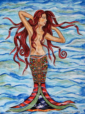 Rain Ririn Painting - Alannis by Rain Ririn