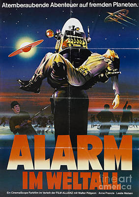 Painting - Alarm Im Weltall German Forbidden Planet Movie Poster by R Muirhead Art