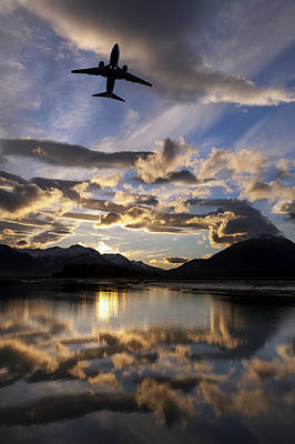 Alaska Airlines Jet Takes Print by John Hyde