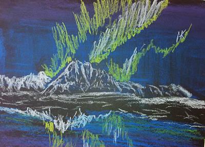Wall Art - Pastel - Alaska Aurora by Helen Krummenacker