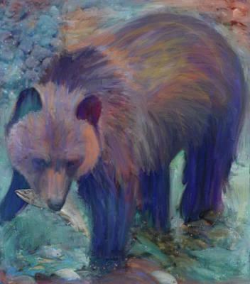 Pyrography - Alaska Bear  by Julianne Ososke