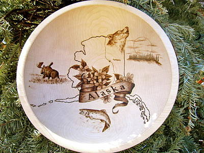 Pyrography - Alaska Birch Bowl by Adam Owen