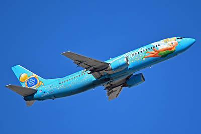 Alaska Boeing 737-490 N791as Tinker Bell Phoenix Sky Harbor January 12 2016 Art Print by Brian Lockett