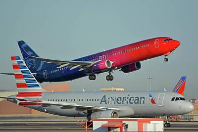 Photograph - Alaska Boeing 737-900 N493as More To Love Phoenix Sky Harbor October 27 2017 by Brian Lockett